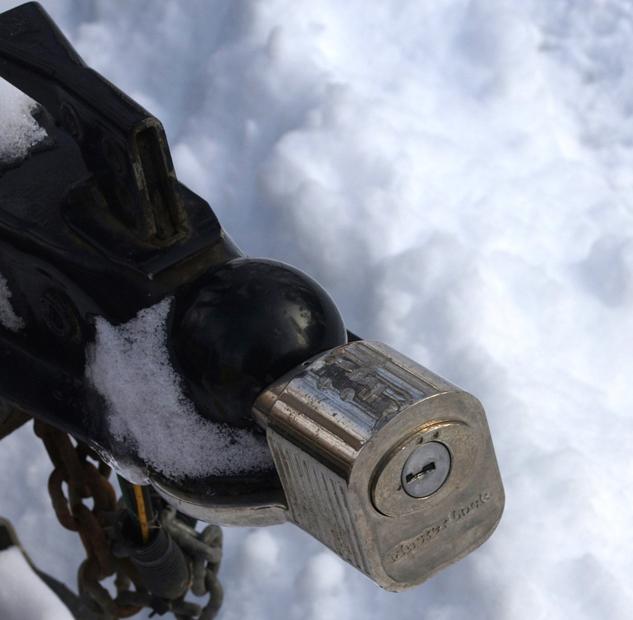 Snowmobile-trailer-security-MasterLock-on-coupler