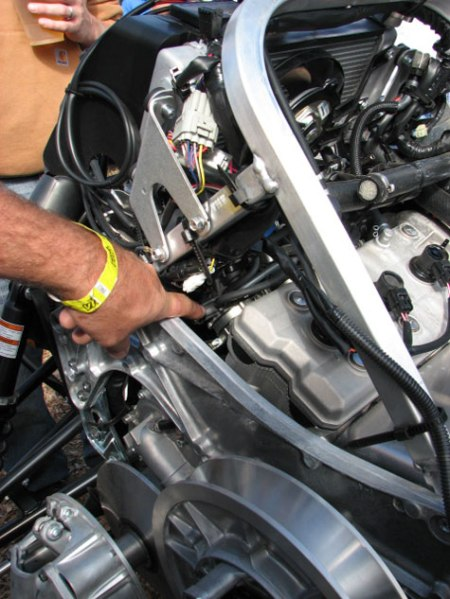 Snowmobile-how-to-Oil-Change-Nytro-Engine